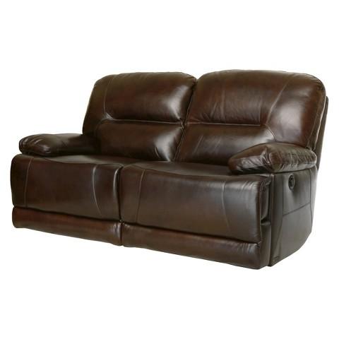 Modena reclining leather loveseat abbyson living target for Abbyson living sedona leather chaise recliner