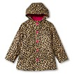Girls' Leopard Print Raincoat - Beige