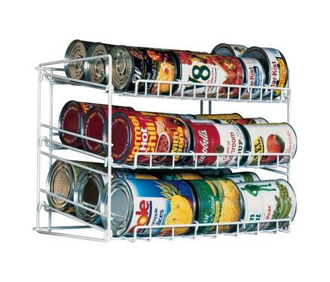 Atlantic Kitchen Storage Can Rack White Tar