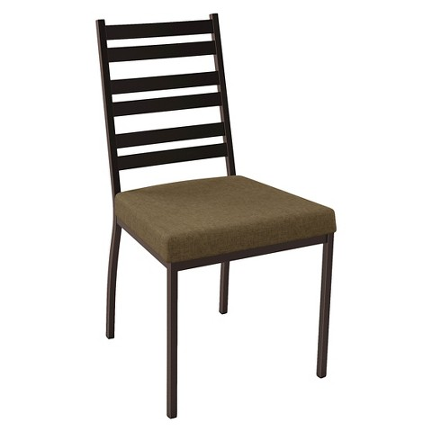 Stage Dining Chair Metal Brown Set of 2 Amisco Tar