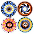 Oui by French Bull Appetizer Plates Set of 4