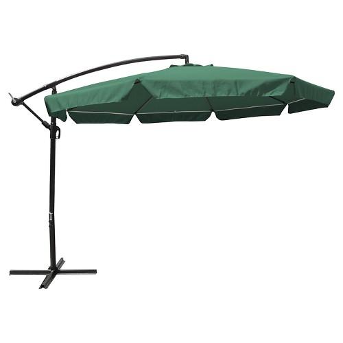 Patio Umbrella Netting: 11' Steel Offset Patio Umbrella W/ Mosquito Netting