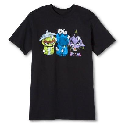 Image of Halloween Sesame Street Walking Dolls Men's T-Shirt - Black