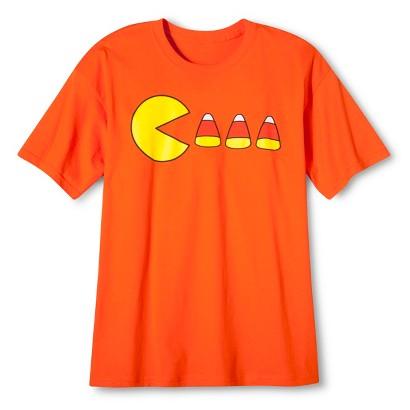 Image of Halloween Pacman Candy Corn Men's T-Shirt - Orange