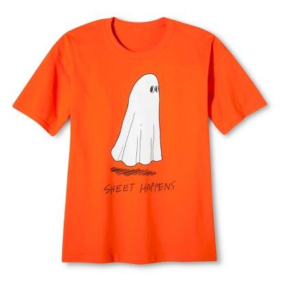 Image of Halloween Sheet Happens Men's T-Shirt - Orange