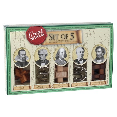 Great Minds Set of 5 Puzzle Games