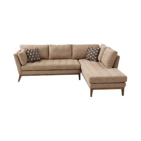 Armen living sahara sectional sofa cream target for Sectional sofa at target