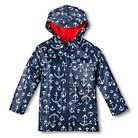 Infant Toddler Boys' Anchor Raincoat - Navy