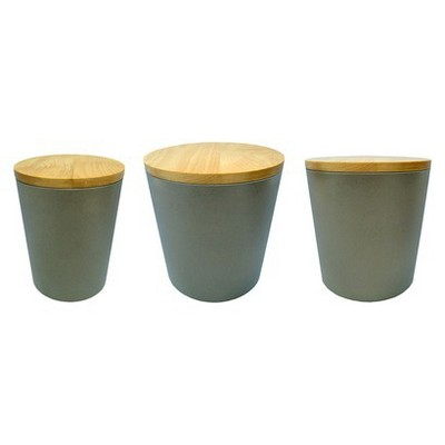 Threshold™ Melanine Canister Set of 3 - Grey