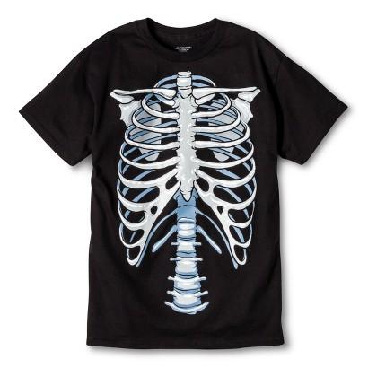 Image of Halloween Costume Glow Skeleton Men's T-Shirt S