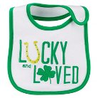 Just One You™Made by Carter's® Newborn Lucky and Loved Bib - White