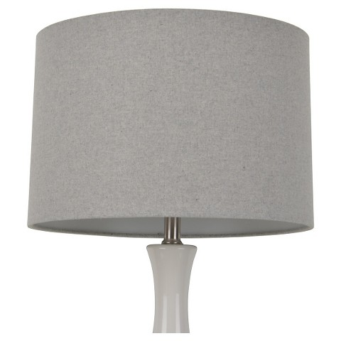 threshold straight drum wool lamp shade large light gray product. Black Bedroom Furniture Sets. Home Design Ideas