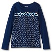 Girls' Long Sleeved Waves Graphic Tee