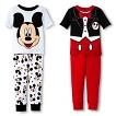 Disney&#174 Toddler Boys' Mickey Mouse 4-Piece Mix & Match Pajama Set