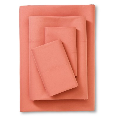 Room Essentials™ Microfiber Sheet Set - Coral (Full)