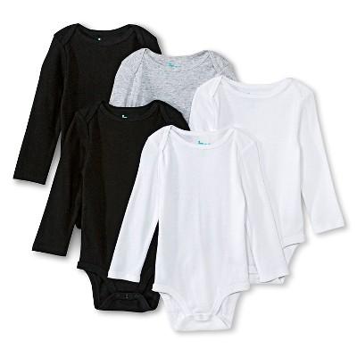 Newborn Boys' Long Sleeve Bodysuit - Multicolor 0-3 M