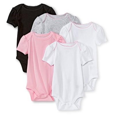 Newborn Girls' Short Sleeve Bodysuit - Multicolor 0-3 M