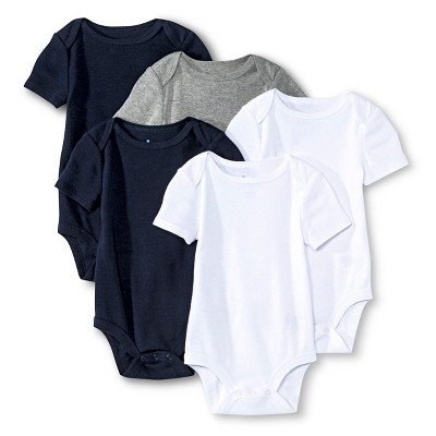 Newborn Boys' Short Sleeve Bodysuit - Multicolor 0-3 M