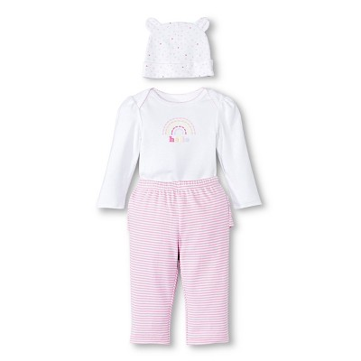 Newborn Girls' Top & Bottom Set - Fun Pink 0-3 M