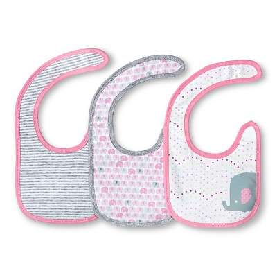 Girls' 3 Pack Bib Set Fun Pink - Circo