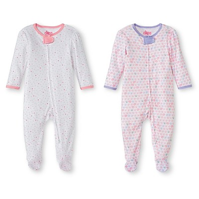 Ecom Male Footed Sleepers Circo 3-6 M Fun Pink