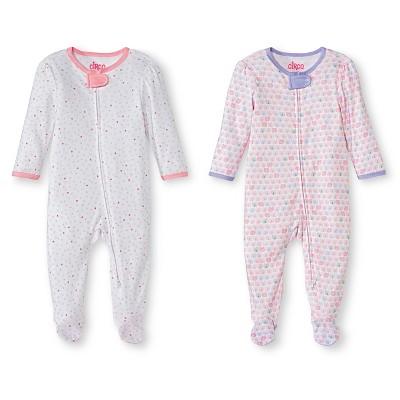 Newborn Girls' Sleep & Play Set - Fun Pink 0-3 M