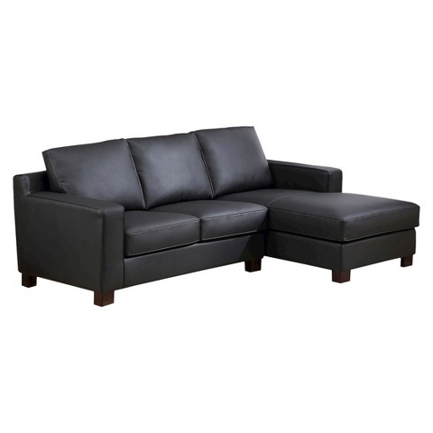 abbyson living westbury leather sectional sofa black product details