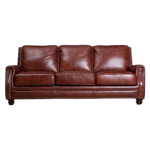 Ethan Leather Sofa Tar