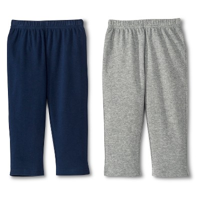 Newborn Boys' 2 Pack Basic Pants Gray/Blue - Circo 0-3M