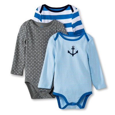 Male Child Bodysuits Circo Trillium Blue 0-3 M