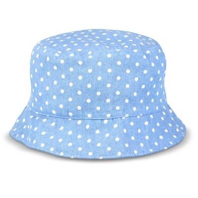 Newborn Toddler Girls' Polka Dot Bucket Hat - Chambray - Circo™