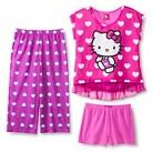 Hello Kitty Girls' 3-Piece Pajama Set