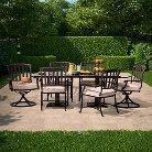 Premium Kentfield 7-Piece Aluminum Patio Dining Set - Smith & Hawken™