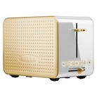 Bella Dots 2.0 Toaster - White/Gold