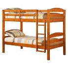 Walker Edison Solid Wood Bunk Bed - Medium Gold (Twin)