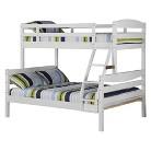 Walker Edison Wood Bunk Bed - White (Twin/Full)