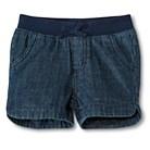 Toddler Girls' Jean Shorts - Denim Blue