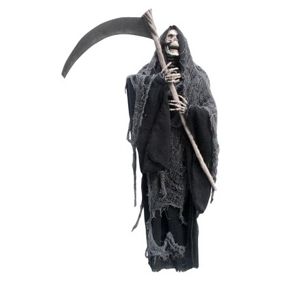 Halloween hanging grim reaper with sickle product details page