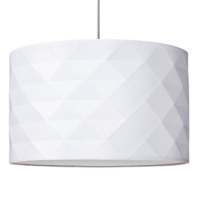 Threshold™ Faceted Pendant with Diffuser - True White