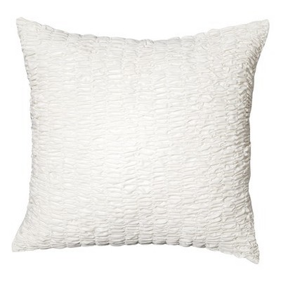 Textured Euro Pillow Sham White - Boho Boutique™