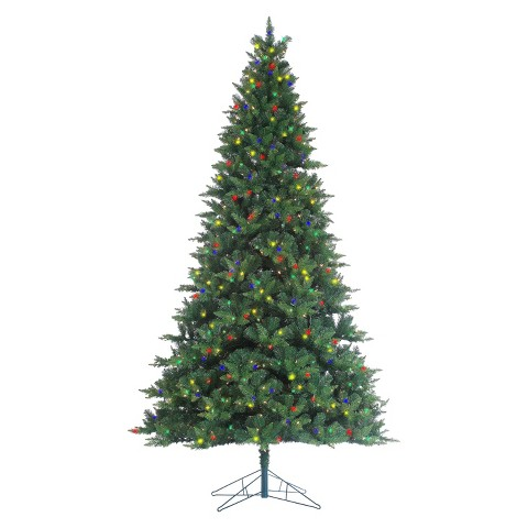 Longwood Pine Artificial Christmas Tree with Lights   Multicolor 2GmU4NKW