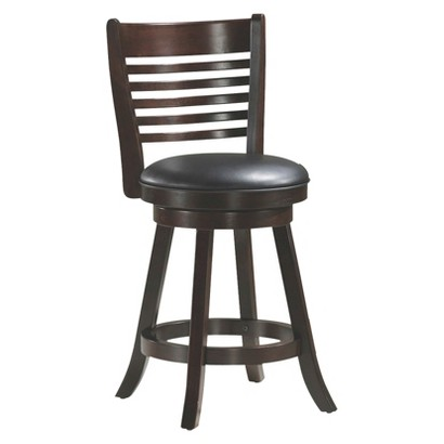 solid wood swivel 24 counter stool cappuccino target