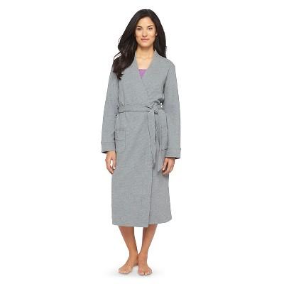 Women's Waffle Knit Robe Heather Gray XL/XXL - Gilligan & O'Malley™