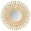 Safavieh Rayos Sunburst Wall Mirror - Brass
