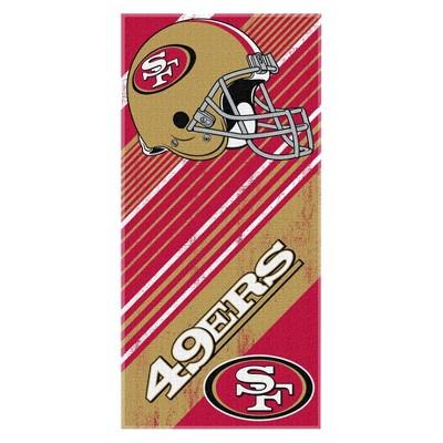 "NFL San Francisco 49ers Beach Towel - Multicolor (58"" L x 28"" W)"
