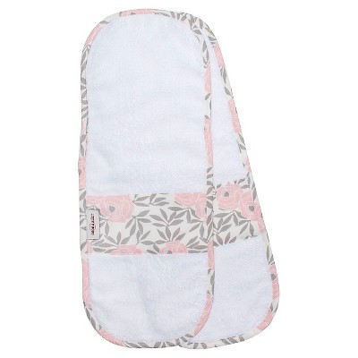 Bébé au Lait 2pk Cotton Burp Cloth Set - Rosa