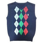 Toddler Boys' Argyle Sweater Vest - Navy