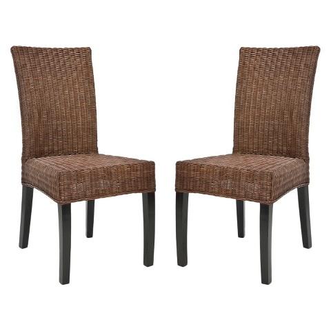 Dining Chair Wood Brown Safavieh Tar