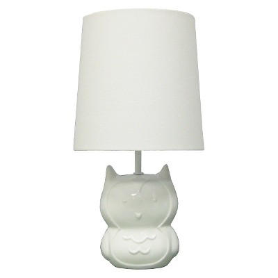 Circo™ Ceramic Table Lamp & Shade - Owl (with bulb)
