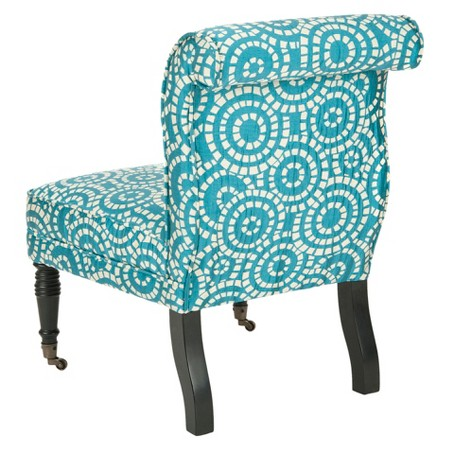Catalina Side Chair Blue White Safavieh Tar